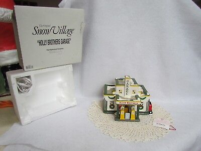 1995 Dept  56 Snow Village Holly Brothers Garage In The Original Box