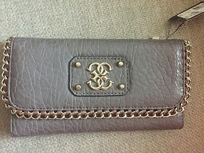 NEW Perfect Best Ladies Gift Guess Deputy Logo Bag WALLET Taupe Collection