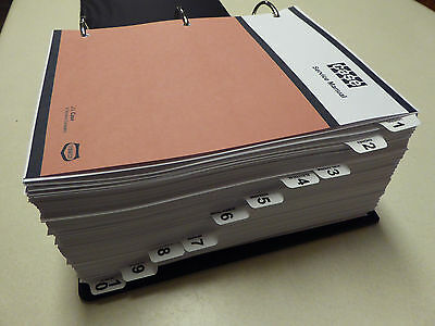 Case 4494//4694 Tractor Service Manual Repair Shop Book NEW with Binder