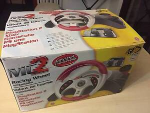 Mc2 Steering Racing Wheel Pedals Racing Playstation 2 PS1 Xbox Roselands Canterbury Area Preview