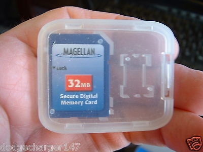 Original Magellan Meridian Explorist Gps Mapping 32MB SD card