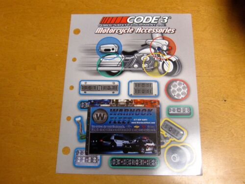 CODE 3 POLICE CATALOG POLICE ACCESSORIES & WARNING PRODUCTS FOR MOTORCYCLES