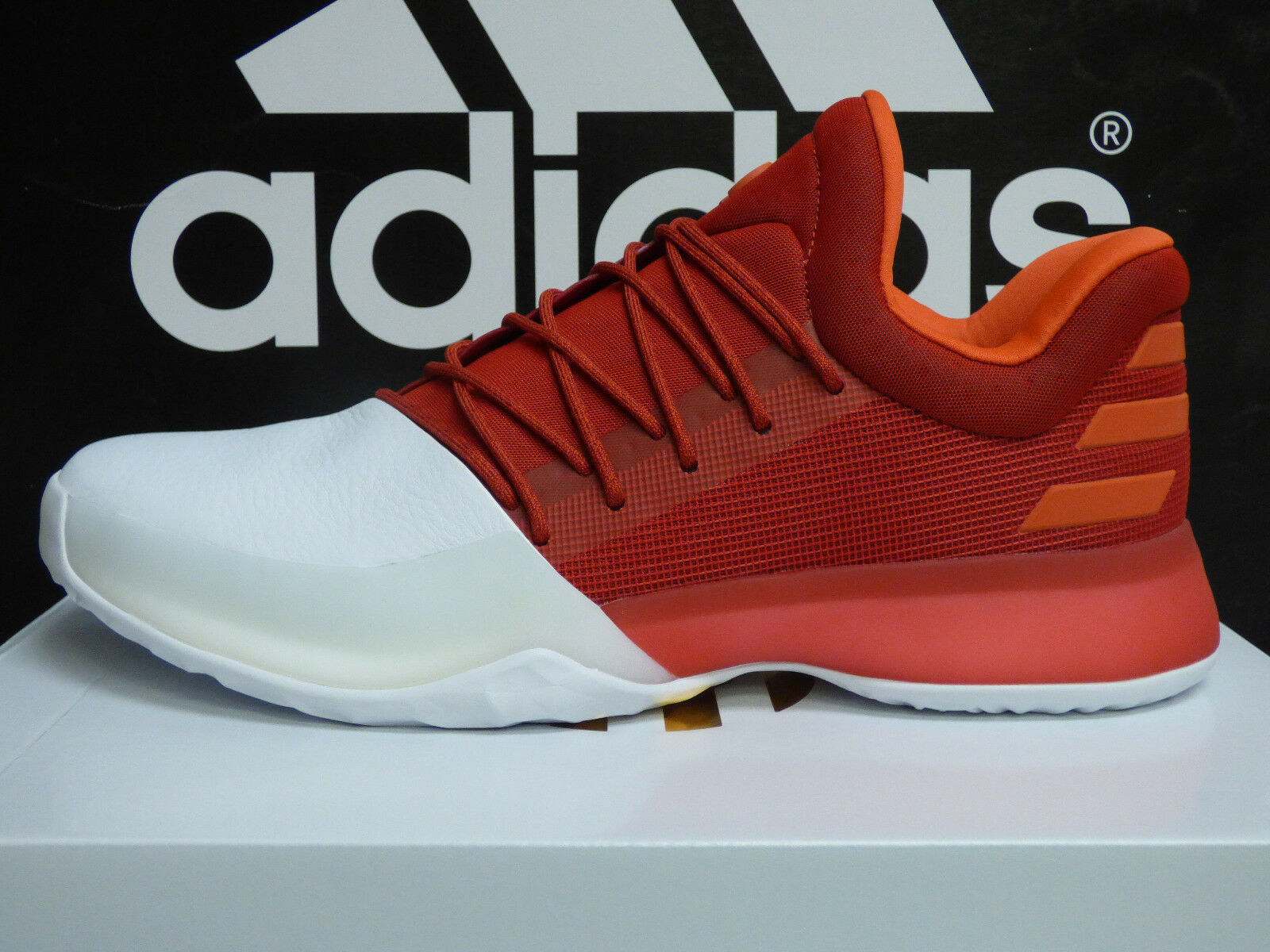 NEW AUTHENTIC ADIDAS Harden Vol.1 Men's Basketball Shoes - Red/White;  BW0547
