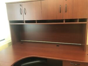 NEED GONE ASAP Office desk with upper level and filing cabinet