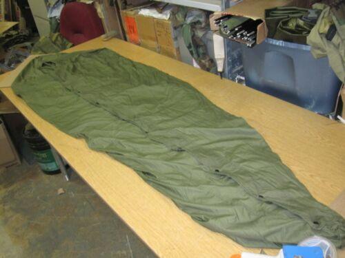 VTG 1951 KOREAN WAR M-1945 SLEEPING BAG COVER! UNUSED! WATER RESISTANT! W/LACE!