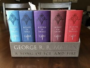 Game of thrones novels with leather covers