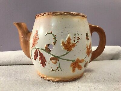 Wax Candle Burner Teapot shaped fall leaves Yankee Candle? OH3619