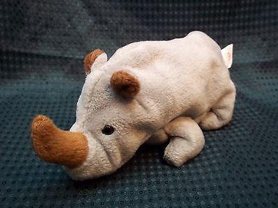 """TY Beanie Babies 7"""" Rhino ** SPIKE **"""