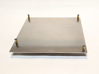 """Used, Mini-ITX Aluminum Motherboard Tray w/ standoffs 6.75""""x6.75x0.090"""" for sale  Shipping to India"""