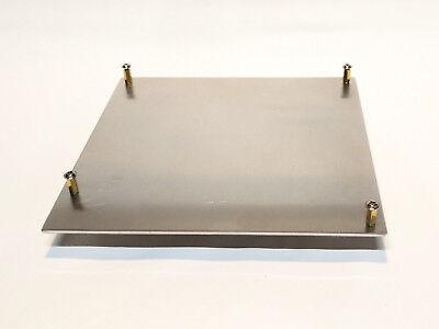 """Mini-ITX Aluminum Motherboard Tray w/ standoffs 6.75""""x6.75x0.090"""""""