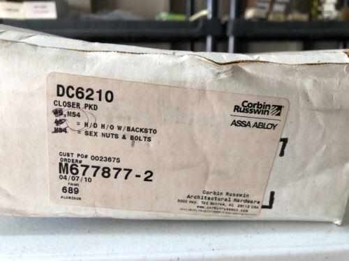 DC6210 CORBIN RUSSWIN ALUMINUM DOOR CLOSER