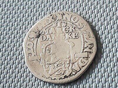 Dänemark  1 Marck Danske  1612 Silber, Christian IV  1588  - 1648