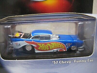 HOT WHEELS MINT IN BOX 2001 100% SERIES '57 CHEVY RACE TEAM FUNNY CAR  !