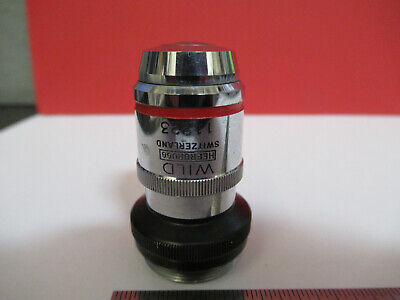 Wild Swiss Objective Rare Adjus 100x Fluotar Microscope Part As Pictured B6-a-04