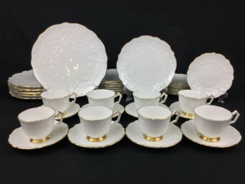 Aynsley Golden Crocus White Gold 40-Piece Set for EIGHT (8)