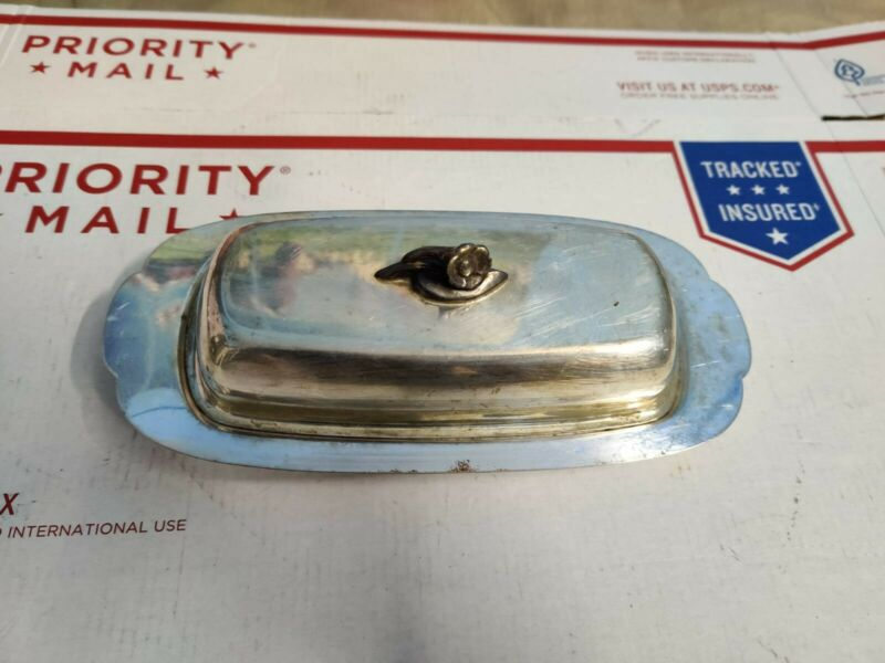 """Vintage - Oneida Silversmiths Silver Plated Butter Dish: 9"""" X 4"""" X 3"""""""