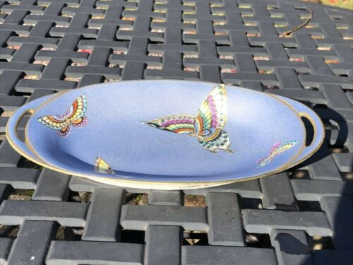 NIPPON MORIMURA BUTTERFLY PATTERN OVAL SERVING CANDY NUT DISH
