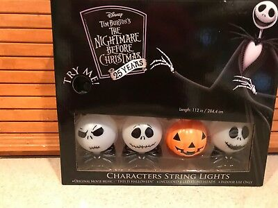Disney Halloween Movie Characters (NIGHTMARE BEFORE CHRISTMAS CHARACTERS STRING LIGHTS  8 MUSICAL LIGHTS 25)