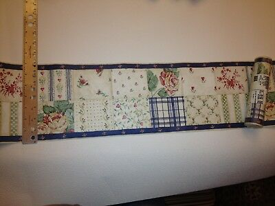- PATCHWORK QUILT PREPASTED WALLPAPER BORDER # NC76762