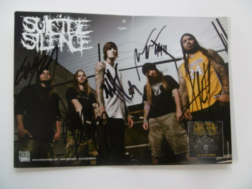 """Suicide Silence """"Mitch Lucker"""" signed 6x8 inch postcard autographs"""