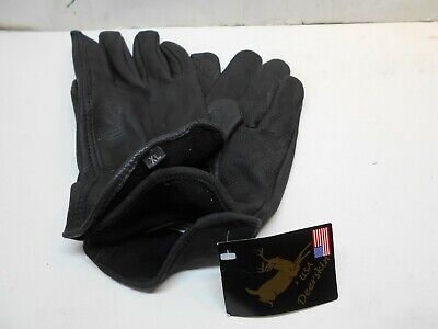 new men,s XL black unlined deer hide gloves work or luxury (Hides Unlined Gloves)