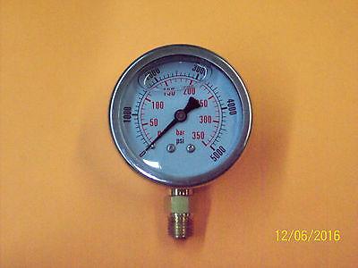 2 Inch Hydraulic Pressure Gauge-liquid Filled 5000 Psi