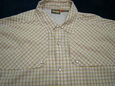 Howler Bros Mens Pescador Pearl Snap Vented Long Sleeve Fishing Shirt Yellow 2XL