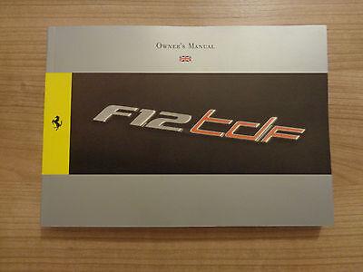 Ferrari F12 TDF Owners Handbook/Manual