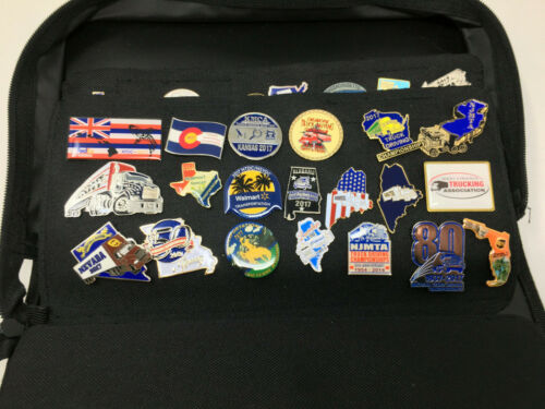 Collectible Lapel Pins 142 Mixed Transportation & Other Advertising With Case