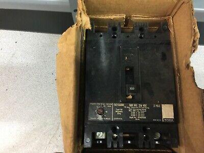 New In Box Westinghouse 100amp 2pole 600vac 250vdc Breaker Fb21550ml