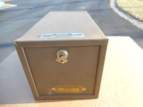 "Vtg Meilink Hercules Locking Safe Vault Fire Toledo Ohio USA 13"" 18 Lbs 9.7 Gun"