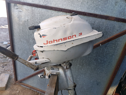 Barn find Johnson 3 H.P. outboard.