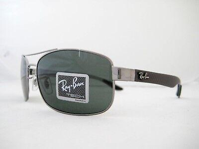 new RAY BAN CARBON FIBER Sunglasses Gunmetal/Dark Green RB8316 004 62mm (Carbon Fiber Rayban)