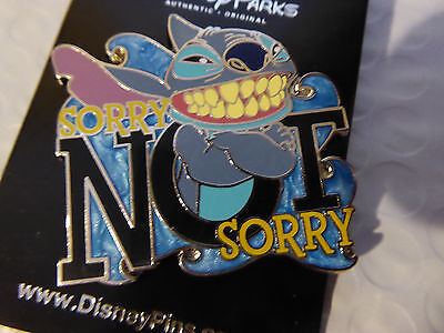 Disney Trading Pins  122670 Stitch Sorry Not Sorry