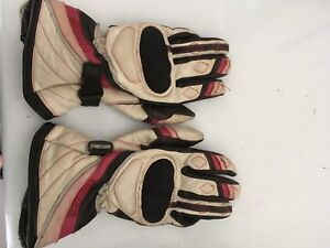 Women's motorcycle leather gloves