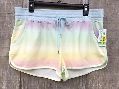 New Women's Honeydew Intimates Rainbow Summer Lover Dolphin Style Shorts L