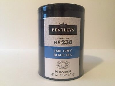 Bentley's Earl Grey Black Tea 50 Tea Bags Harmony Tin Collection (12 pack) Case
