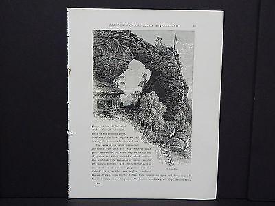 Picturesque Europe In-Text Illustration #46 Switzerland - The Prabischthor
