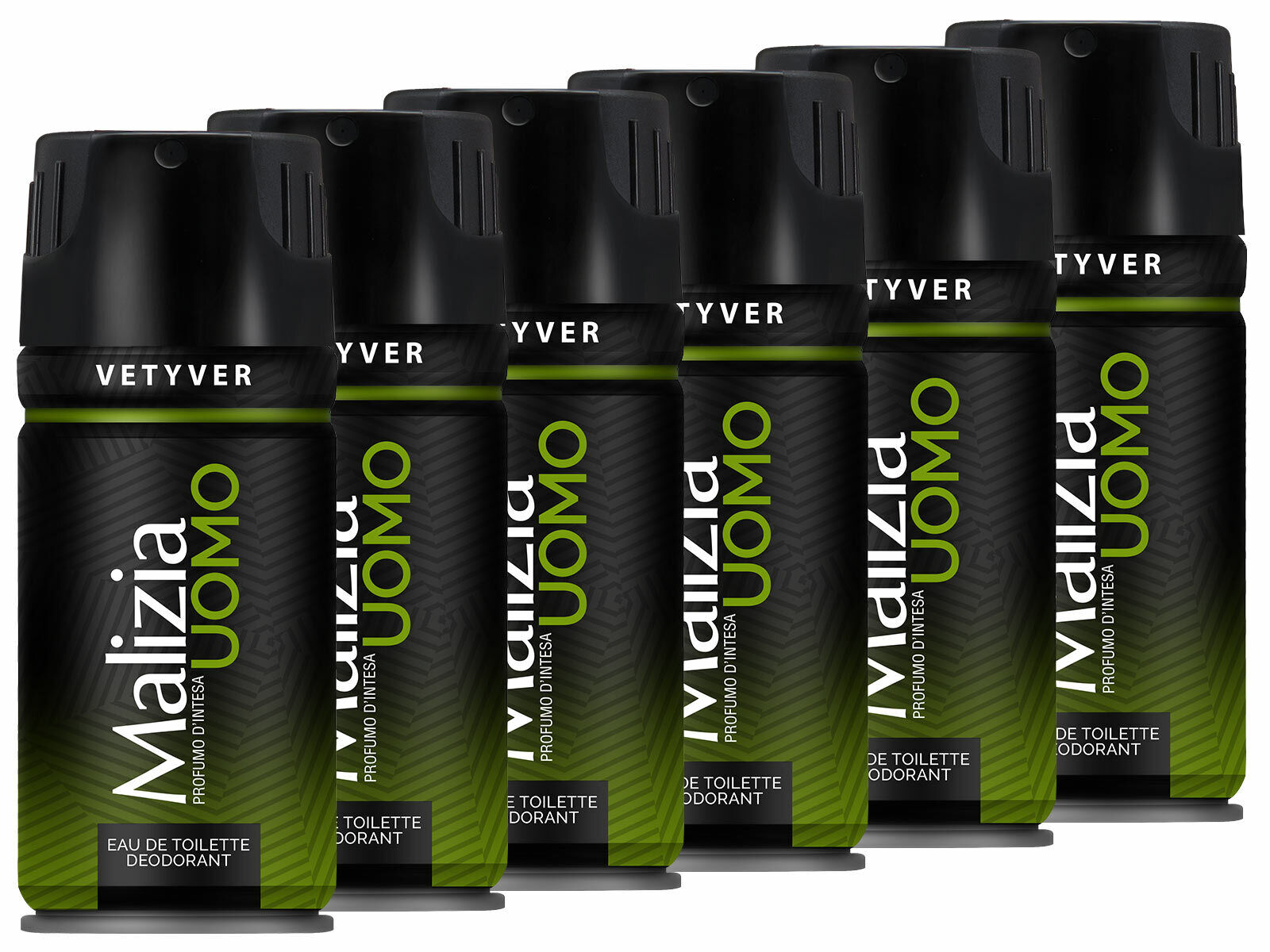 Malizia Uomo Deo 6x 150 ml Vetyver the green Deodorant from italy