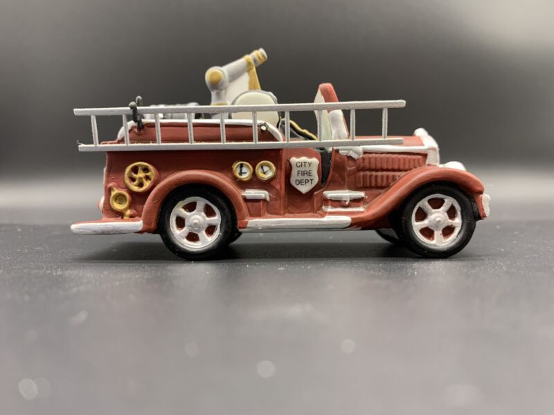 Dept 56 City Fire Dept Fire Truck #5547-6 Heritage Village Collection Accessory