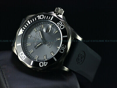 Rare Invicta 47mm Ltd.Ed Grand Diver T25 Swiss Automatic Gunmetal IP 500M Watch