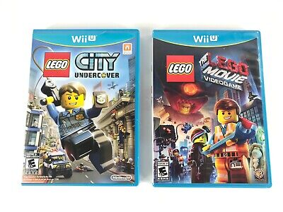 LEGO City Undercover & The LEGO Movie Videogame, Complete, Lot (Nintendo Wii U)
