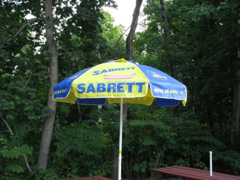 SABRETT HOT DOG VENDING UMBRELLA 6 FOOT UMBRELLA NEW