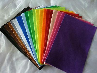 (0,50€/Platte) Bastelfilz, Platten, 20x30cm, 20 Farben, Polyester