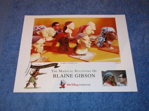 IMAGINEERING SCULPTOR BLAINE GIBSON DISNEYLAND PIRATES CARIBBEAN DESIGN PRINTS