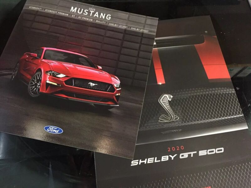 2020 FORD MUSTANG DEALER SALES BROCHURE ALL MODELS 36 PGS+SHELBY GT500 USA NEW!