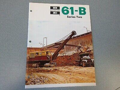 Rare Bucyrus-erie 61-b Crane Excavator Sales Brochure 1968