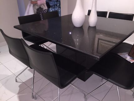 Granite dining table with 2 coffee tables and 1 main coffee table  Hunters Hill Hunters Hill Area Preview