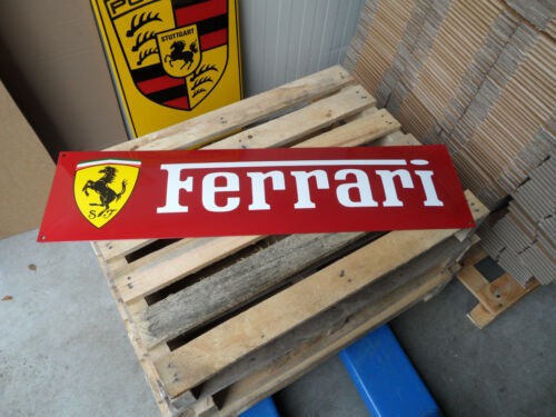 FERRARI - Automobile Garage Werkstatt Dealer - Genuine Porcelain Enamel Sign