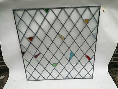 Stained glass leaded windows / glass only (Set 8)